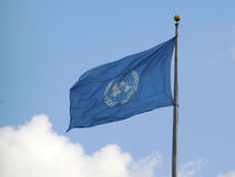 United Nations Flag at UN Headquarter Royalty Free Stock Photo