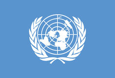 United Nations Flag Vector. The United Nations Flag created in Adobe Illustrator Royalty Free Stock Photography