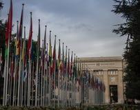 United Nations in Geneva. United Nations headquarters in Geneva, Switzerland Stock Photos