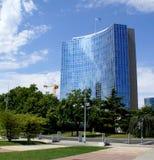 United Nations, Geneva, Switzerland. United nations headquarters building in Geneva, Switzerland, with blue sky and some trees Royalty Free Stock Images