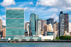 The United Nations Headquarters Building in midtown Manhattan Stock Photography