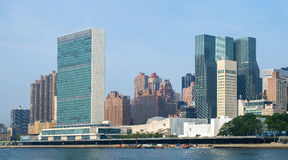 United Nations headquarters complex and US permanent mission to Royalty Free Stock Photography