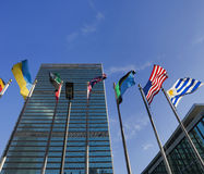United Nations headquarters. In New York City, USA stock photos