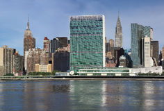 United nations headquarters in new york city,usa. Uptown new york city united nations complex Royalty Free Stock Image