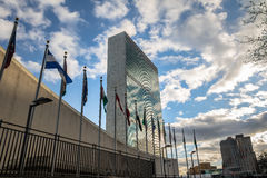 United Nations Headquarters - New York, USA. United Nations Headquarters in New York, USA royalty free stock photography