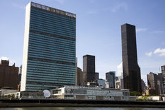 United Nations and the Hudson Stock Photo