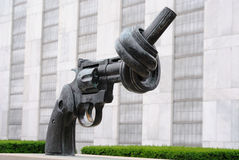 United Nations Knotted Gun Stock Photos