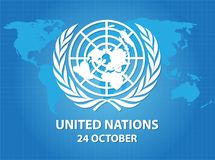 United Nations Logo. Symbols of Equal Rights in Nations vector background Royalty Free Stock Photography