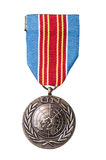 United Nations medalj Royaltyfria Foton