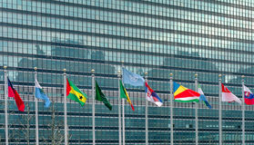 United Nations Flags New York USA Stock Image