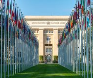 The United Nations Office in Geneva stock image