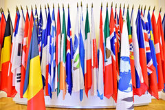 United Nations Organization members flags Royalty Free Stock Photos
