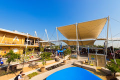 United Nations Pavilion - Expo Milano 2015. MILAN, ITALY - AUGUST 31, 2015: United Nations pavilion at Expo Milano 2015, universal exposition on the theme of royalty free stock photo
