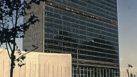 United Nations plaza square stock video