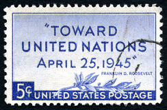 United Nations Postage Stamp Royalty Free Stock Image