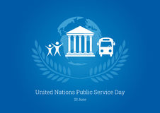 United Nations Public Service Day vector Royalty Free Stock Photography