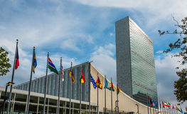 United Nations que constroem em New York Fotografia de Stock