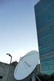 United Nations Telecommunications Satellite Dish Stock Image