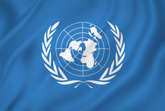 United Nations. UN flag backgound royalty free illustration