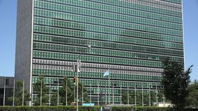 United Nations, UN, World Government. Stock video of the UN stock footage