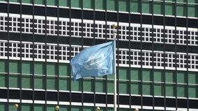 United Nations, UN, World Government. Stock video of the UN stock video