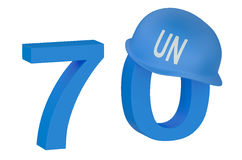 United Nations 70 years concept Royalty Free Stock Photo