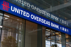 United Overseas Bank branch office Royalty Free Stock Image