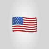 united państwa bandery Obraz Royalty Free