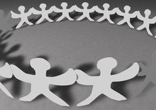 United People Chain Stock Images