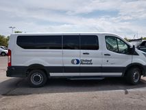 United rentals white van stock image