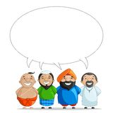 United we Stand. Vector illustration of Indian people of different culture Royalty Free Stock Photo