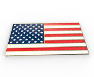 United State of America flag. 3D illustration. United State of America flag. 3d digitally rendered illustration Royalty Free Stock Photo