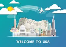 United state of america Landmark Global Travel And Journey paper Stock Photos