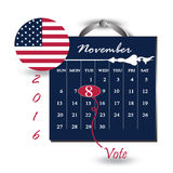 United State of America President election day 2016 Royalty Free Stock Images