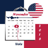 United State of America President election year 2016 Royalty Free Stock Images