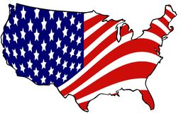 United state map. Filled by map Royalty Free Stock Photo
