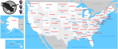 United State maps-Illustration-maps Stock Photos
