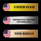 United State presidential election vote result Stock Images