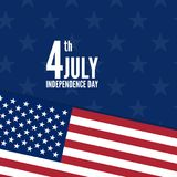 United Stated independence day. 4th of July, United Stated independence day. Vector illustration Stock Images
