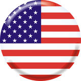 United states. Art illustration: round medal with the flag of united states Stock Photo