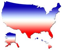 United states. In red, white , and Blue royalty free illustration