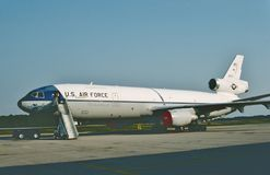 USAF McDonnell Douglas KC-10A 83-0077. 1991. United States Air Force McDonnell Douglas KC-10A Extender 83-0077 CN 48218 LN 389. A military version of the DC-10 stock images