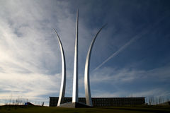 United States Air Force Memorial. Located in Arlington, Virginia stock image