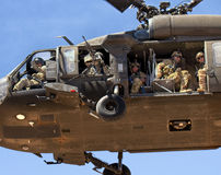 United States Air Force Rescue Copter Mission Stock Image