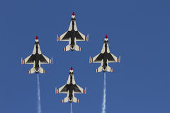 United States Air Force Thunderbirds. Flying team performed at the Thunder and Lightning over Arizona air show at Davis-Monthan Air Force Base in Tucson Royalty Free Stock Images