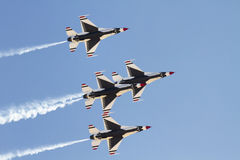 United States Air Force Thunderbirds. Flying team performed at the Thunder and Lightning over Arizona air show at Davis-Monthan Air Force Base in Tucson Stock Photo