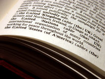 United States of America. Definition of the United States of America as defined in the dictionary Stock Photo