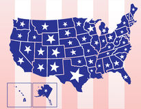 The United States of America. Map of the united states of america Stock Photo