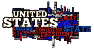United States of America. Themed word cloud Royalty Free Stock Photo