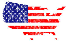 United states of america. Illustration Stock Photo